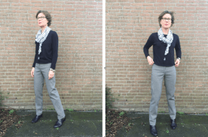 Timeless black white trousers