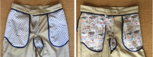 Two male chino trousers