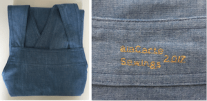 Chambray Japanese cross back apron