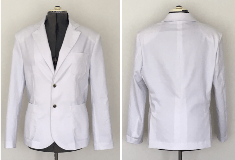 Four Homemade white suits