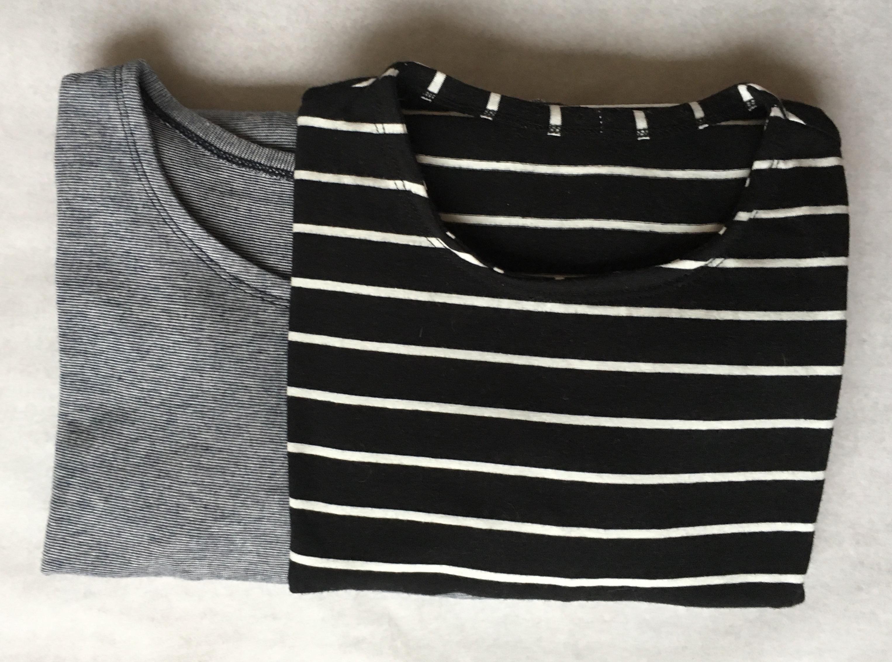 Tweede serie zelfgemaakte basic T-shirts