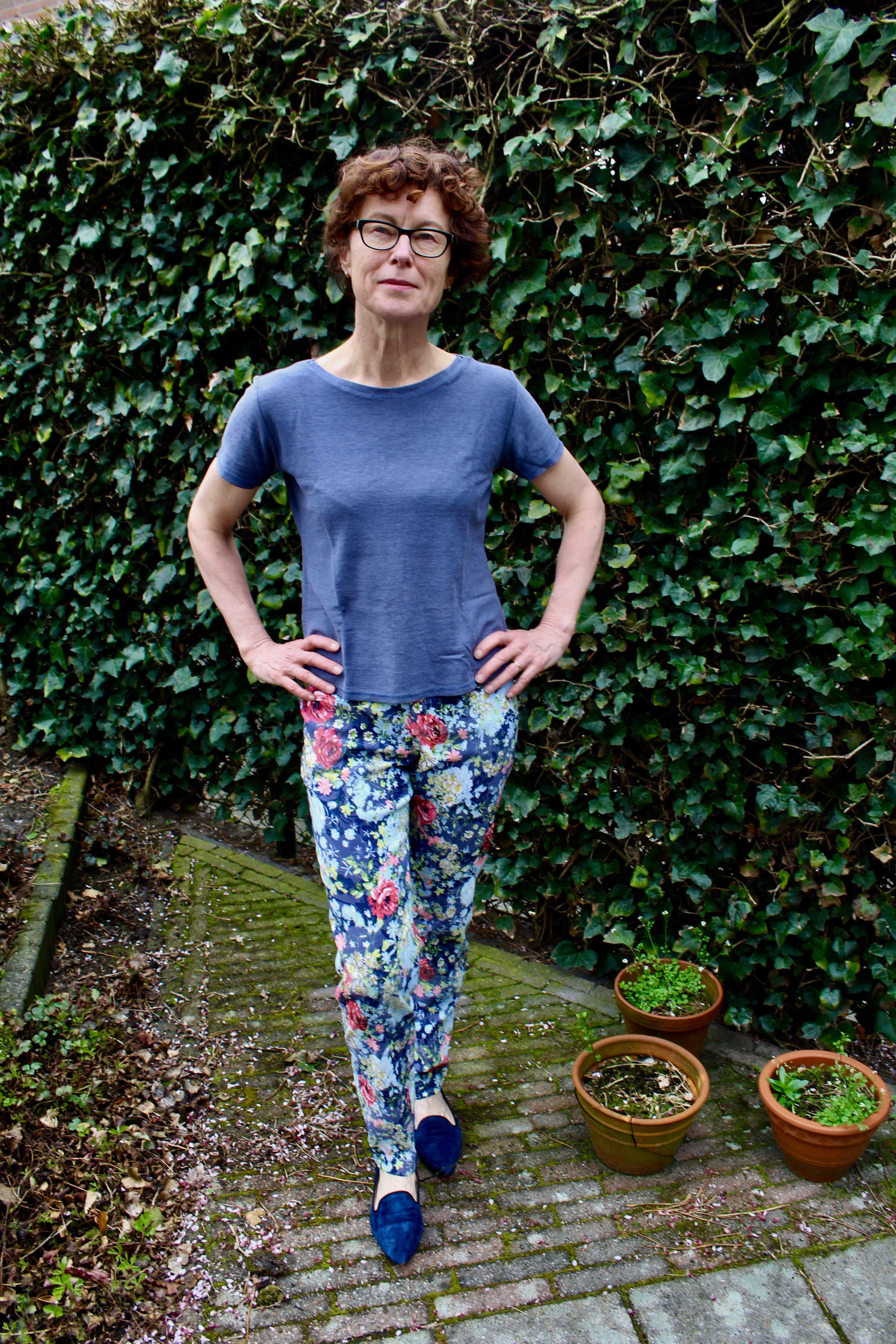 Bloemenprint Slim Fit Jeans