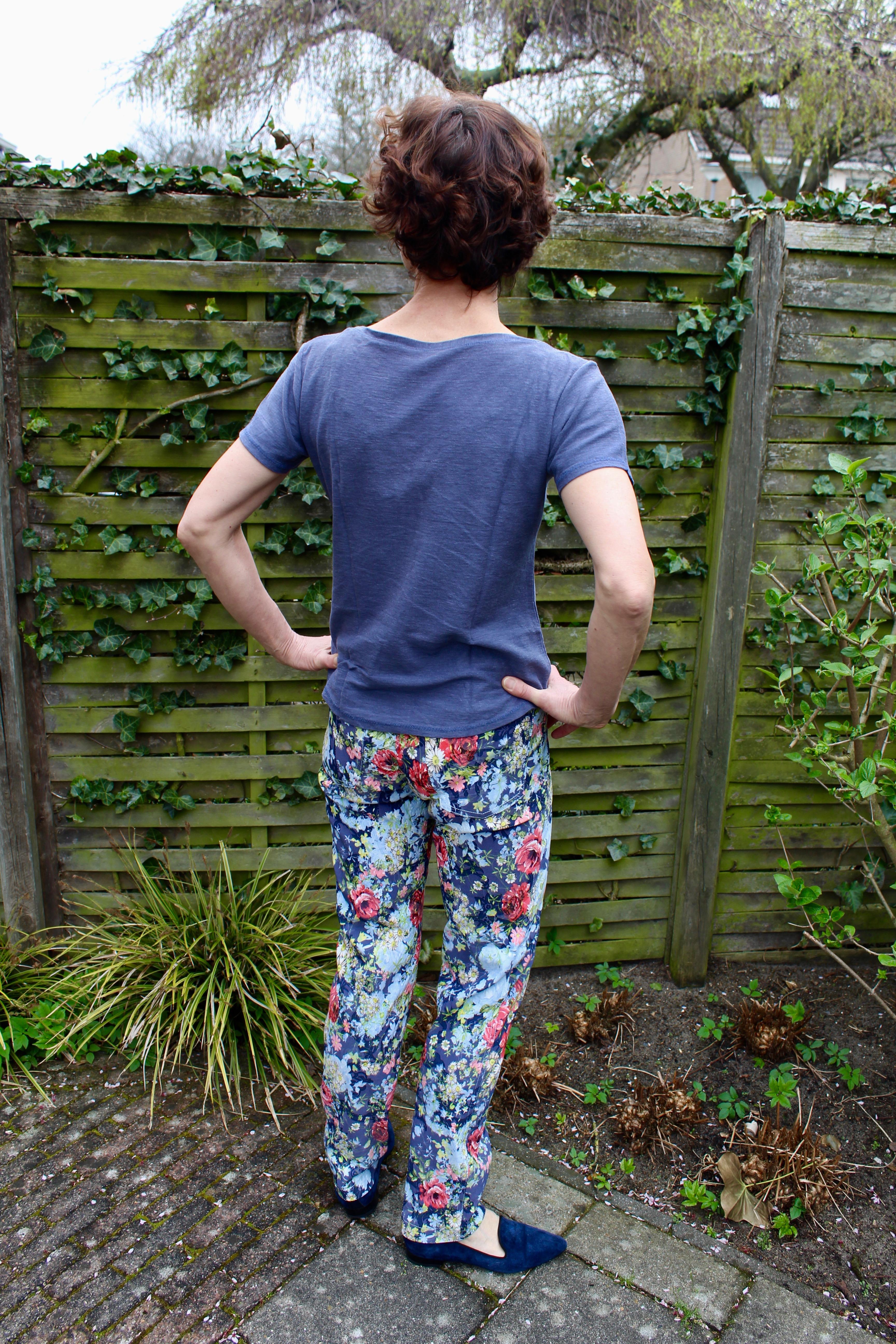 Floral printed Slim Fit 5-pocket Jeans