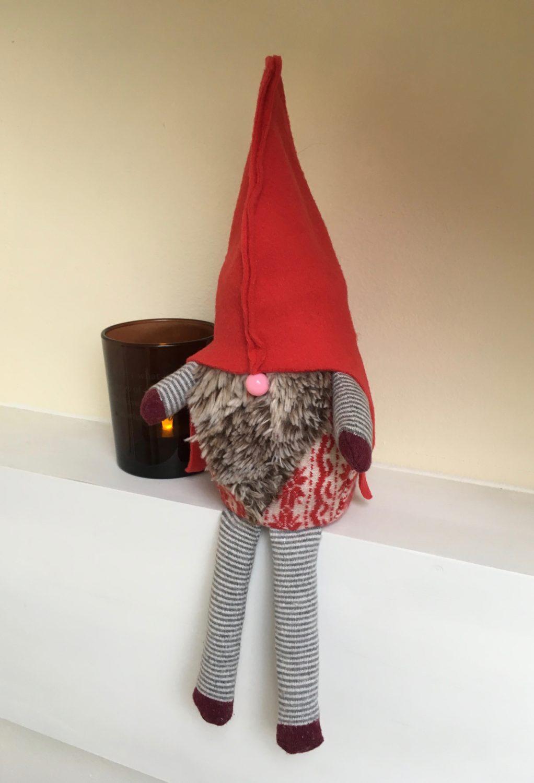 Afgedankte sokken worden Kerstgnoom