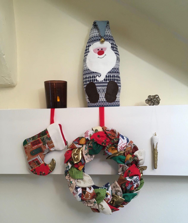 Christmas stocking zipper pouch