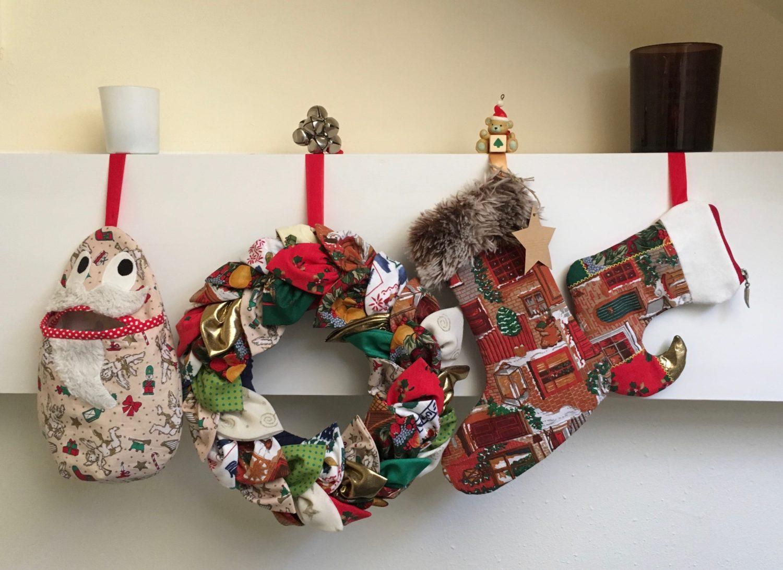 Kerstmis stocking voor cadeaukaarten