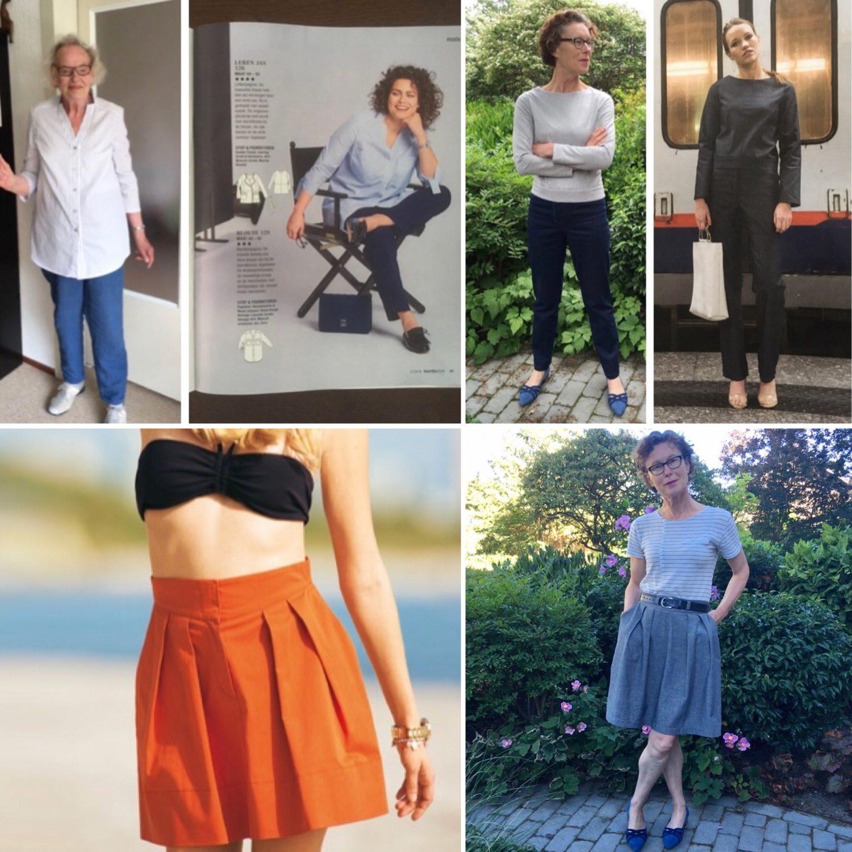 Kledingpatronen aanprijzen met fotomodellen op leeftijd