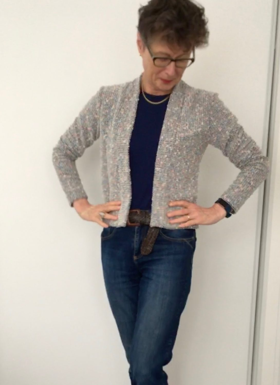 Knitted Bouclé Blackwood Cardigan